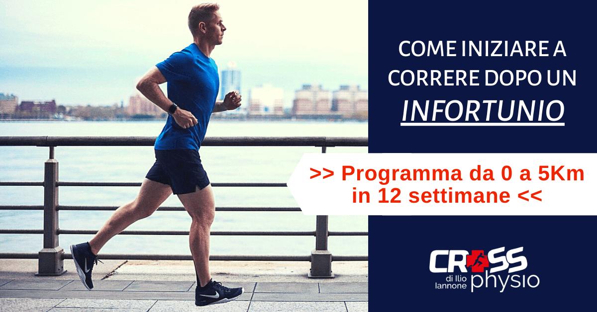 Come iniziare a correre dopo un infortunio [+ PDF PROGRAMMA da 0 a 5Km in 12 settimane]