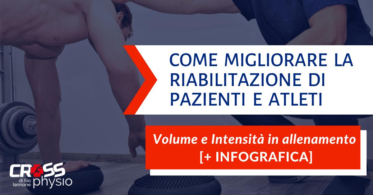 Come migliorare la riabilitazione di pazienti e atleti: volume e intensità in allenamento [+ INFOGRAFICA]